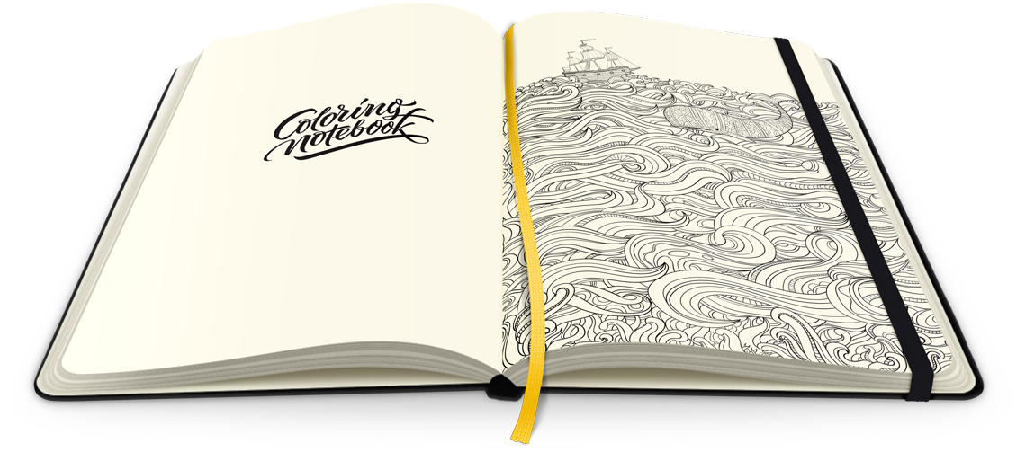 Paper Notebook with Adult Coloring Pages | ColoringNotebook